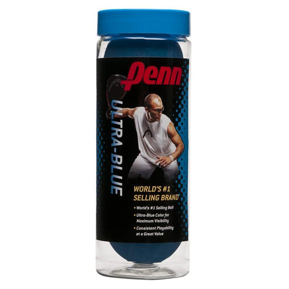HEAD Penn Ultrablue Racketball Ball X 3