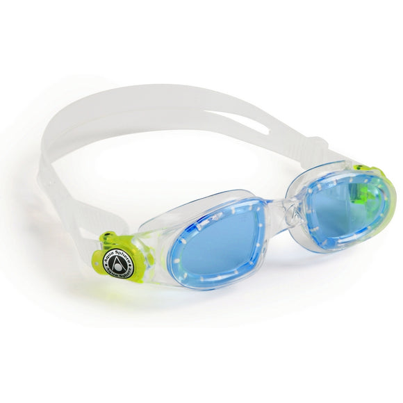 AquaSphere Moby Kid Goggle Blue Lens Clear Lime
