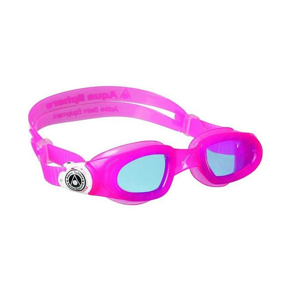 AquaSphere Moby Kid Goggle Blue Lens Pink White Buckles