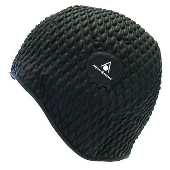 AquaSphere Bubble Swim Cap Black