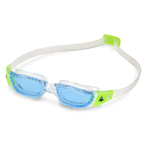 AquaSphere Kayenne Junior Goggle Blue Lens - Clear + Lime