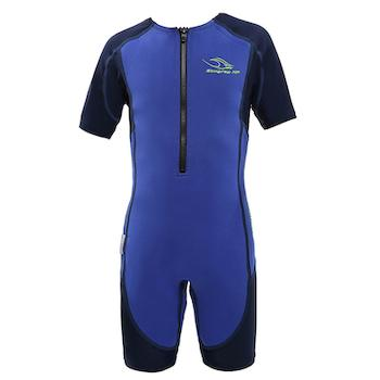 AquaSphere Stingray Boys Suit - Short Sleeve - Blue