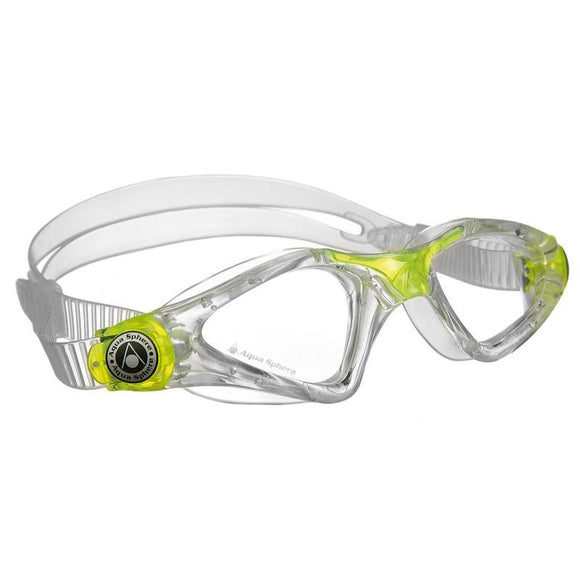 AquaSphere Kayenne Junior Goggle Clear Lens Lime