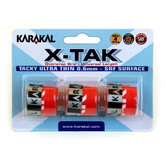 Karakal X Tak Overwrap Grip Assorted x 3