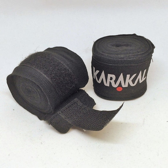 Karakal Boxing Wraps 3.5 Metre Black x 2