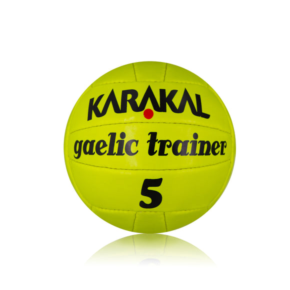 Karakal Gaelic Trainer Ball Fluo Yellow