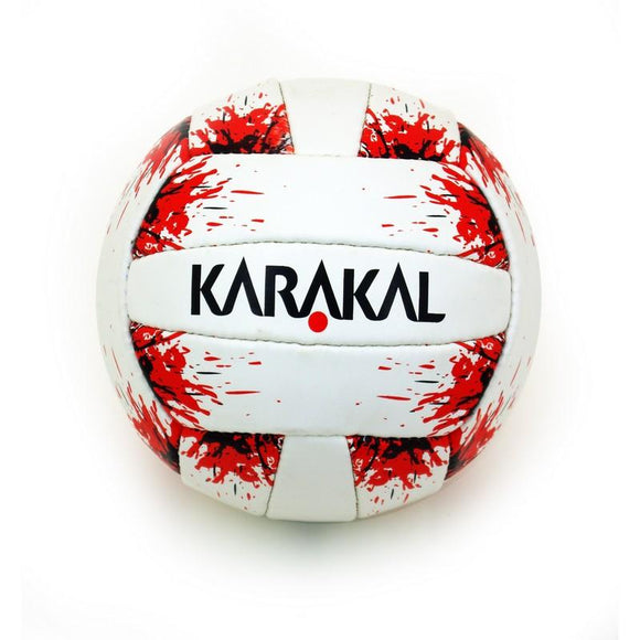 Karakal Smart Touch Gaelic Ball - White/ Red - Splash