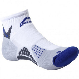 More Mile San Diego 1 Pack Running Sock White/Royal x 6