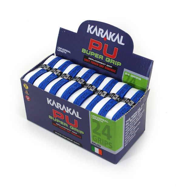 Karakal PU Super Grip - Duo - Blue/White - Box of 24