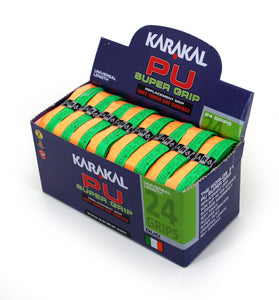Karakal PU Super Grip Duo Green Orange x 24