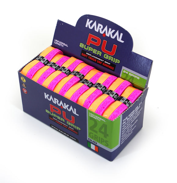 Karakal PU Super Grip - Duo - Orange/Pink - Box of 24