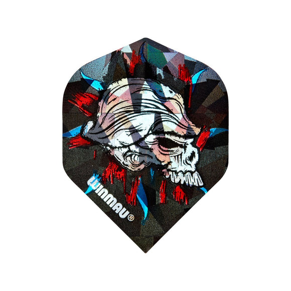 Winmau 3D Standard Dart Flights - Scary Hairy Skull - 10pk