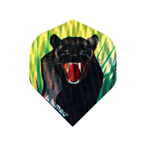 Winmau 3D Standard Dart Flights - Black Panther - 10pk