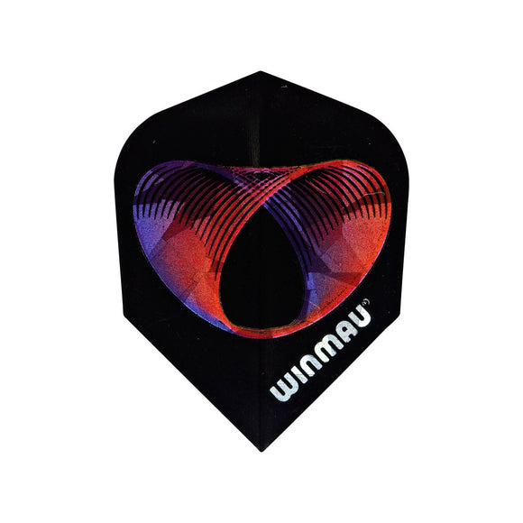 Winmau 3D Standard Dart Flights - Rings in Space - 10pk