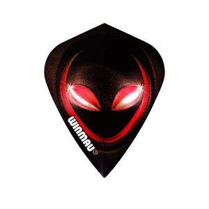 Winmau Kite Poly Dart Flights Red Alien x 10