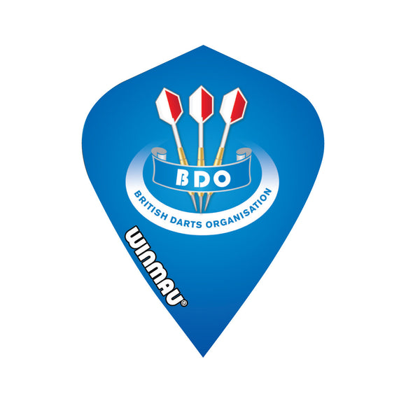 Winmau BDO Blue Kite Poly Dart Flight