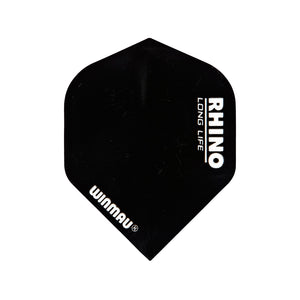 Winmau Solid Black Rhino Standard Dart Flights