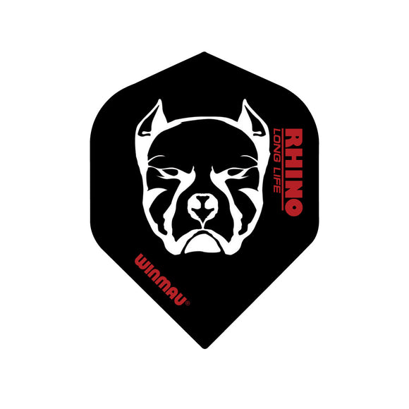 Winmau Dog Black Rhino Standard Dart Flights