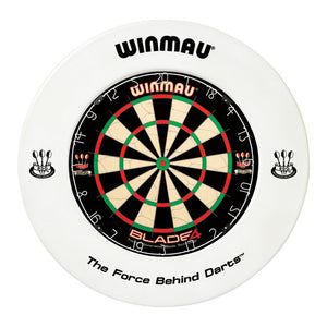 Winmau Dartboard Surround - Printed White