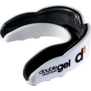 d3 Adult Double Gel Mouthguard - White-Black (6pk)