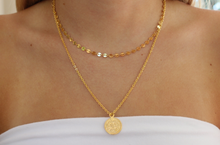 Load image into Gallery viewer, gold-leaf coin pendant necklace