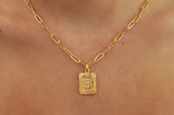 pre-order! custom letter link chain necklace