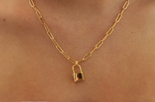 Load image into Gallery viewer, locket link chain necklace