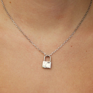 silver lock necklace
