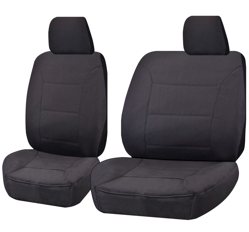 Tailor Made Challenger II Seat Covers for NISSAN PATROL GQ-GU Y61 SERIES 1999-2016 SINGLE CAB CHASSIS CHARCOAL
