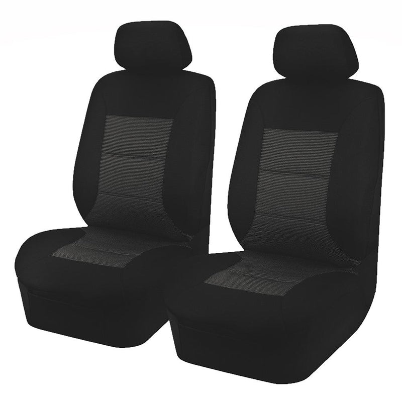 Universal Premium Front Seat Covers Size 30/35 - Black