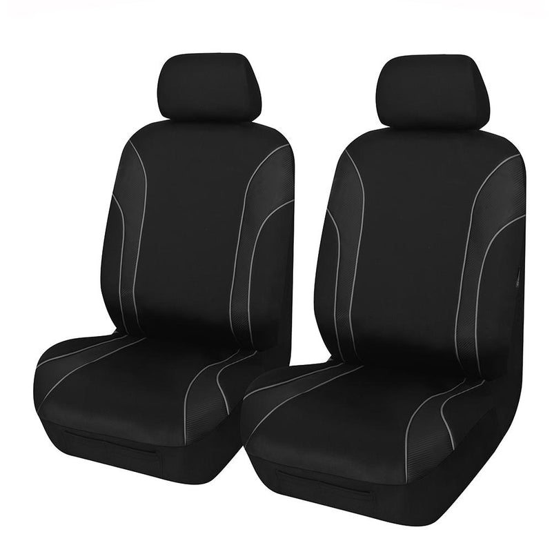 Universal Strident Front Seat Covers Size 30/35 - Grey Piping