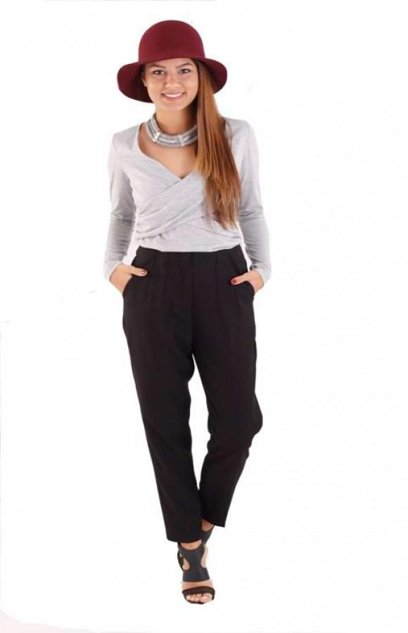 Tailored Cigarette Pant In Black