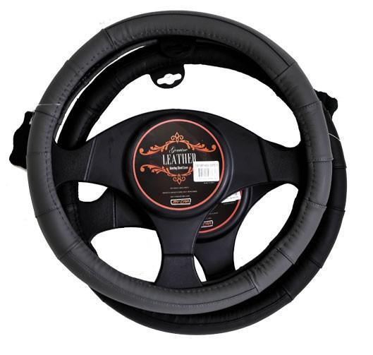 MEMPHIS Steering Wheel Cover - GREY [Leather]