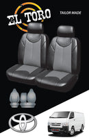Leather Look Seat Covers for Toyota Hiace LWB Van 03/2005 - 2015 TRH -KDH Series