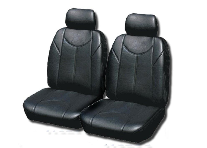 Leather Look PVC Seat Covers for Mazda 2 Fr 09/2007-On Black