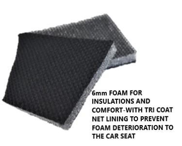 Universal Lavish Rear Seat Cover Size 06/08S - Black/Blue Stitching