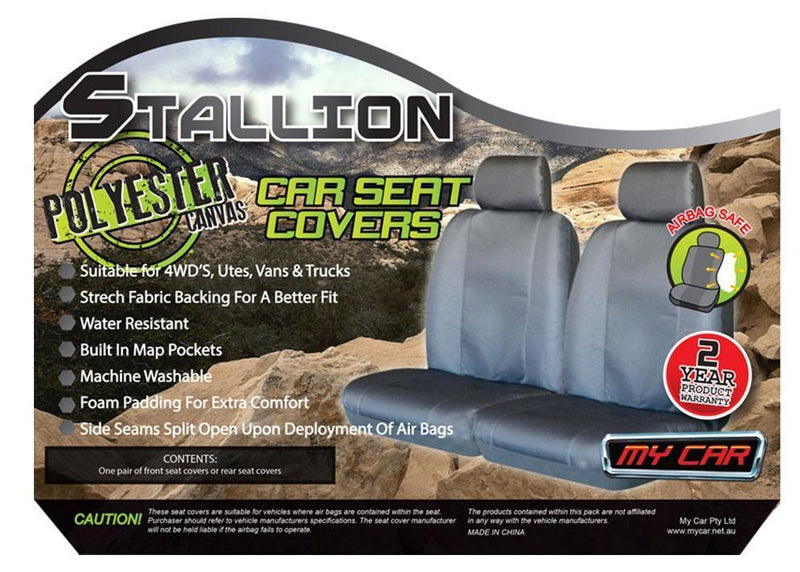 STALLION Universal 06/08 Rear Seat Cover - BLACK
