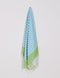 Turkish Towel, Peshtemal, Beach Towel, 100% Luxury Cotton Lime & Turquoise Striped