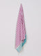 Turkish Towel, Peshtemal, Beach Towel, 100% Luxury Cotton Mint & Fuchsia Striped
