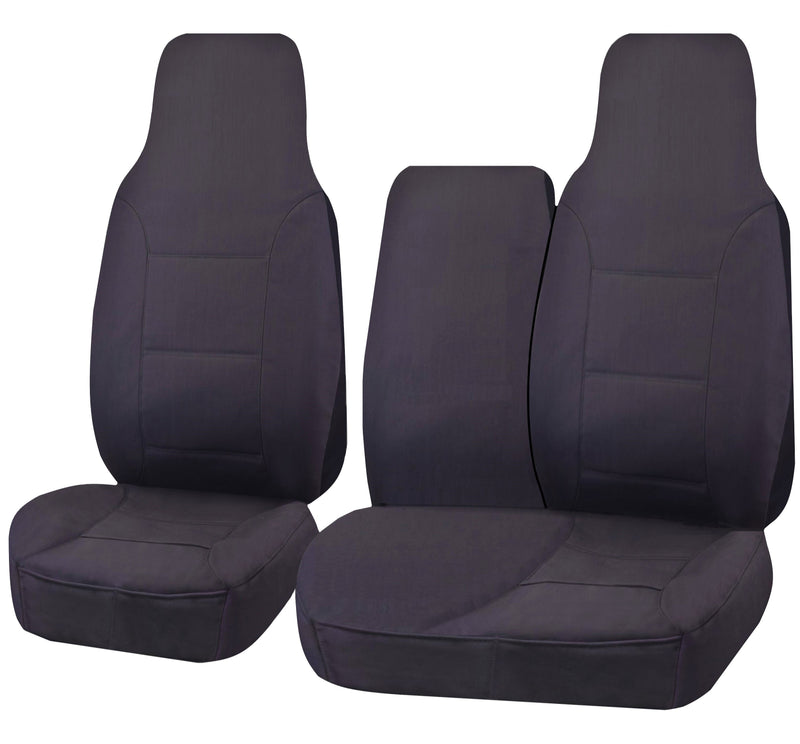 Tailor Made Challenger II Seat Covers for TOYOTA HIACE TRH-KDH SERIES 03/2005–2015 SINGLE/CREW CAB LWB UTILITY VAN CHARCOAL