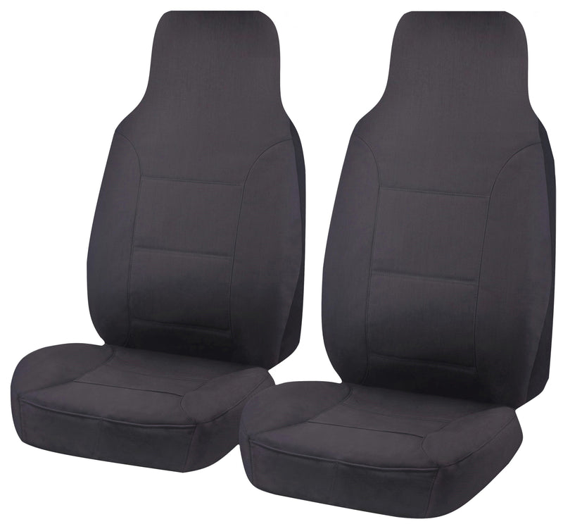 Tailor Made Challenger II Seat Covers for TOYOTA HILUX  07/2015-ON SINGLE CAB CHASSIS CHARCOAL