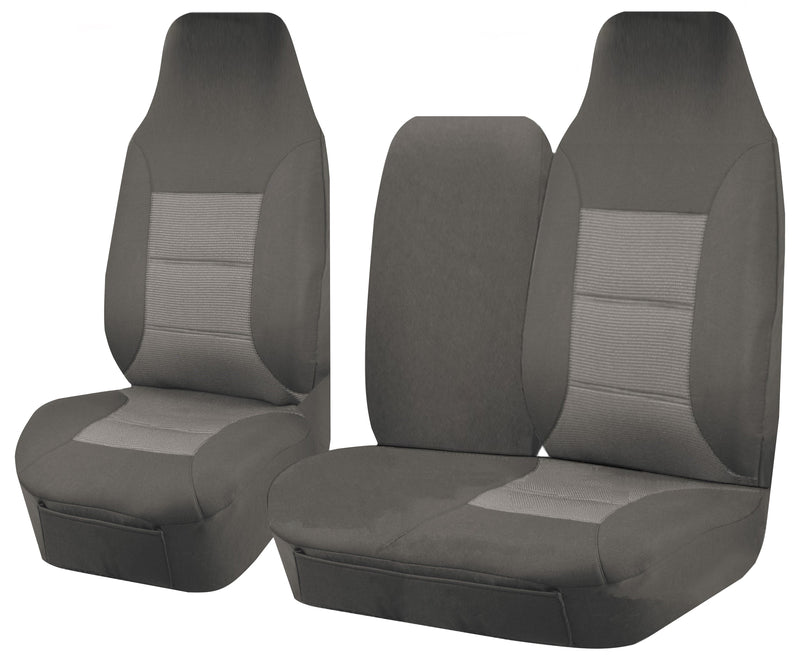 Tailor Made Premium Seat Covers for TOYOTA HIACE TRH-KDH SERIES 03/2005–2015 SINGLE/CREW CAB LWB UTILITY VAN GREY