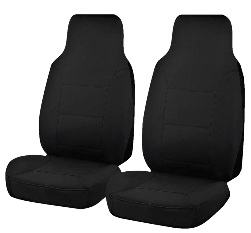 Tailor Made All Terrain Seat Covers for TOYOTA HILUX  07/2015-ON SINGLE CAB CHASSIS BLACK