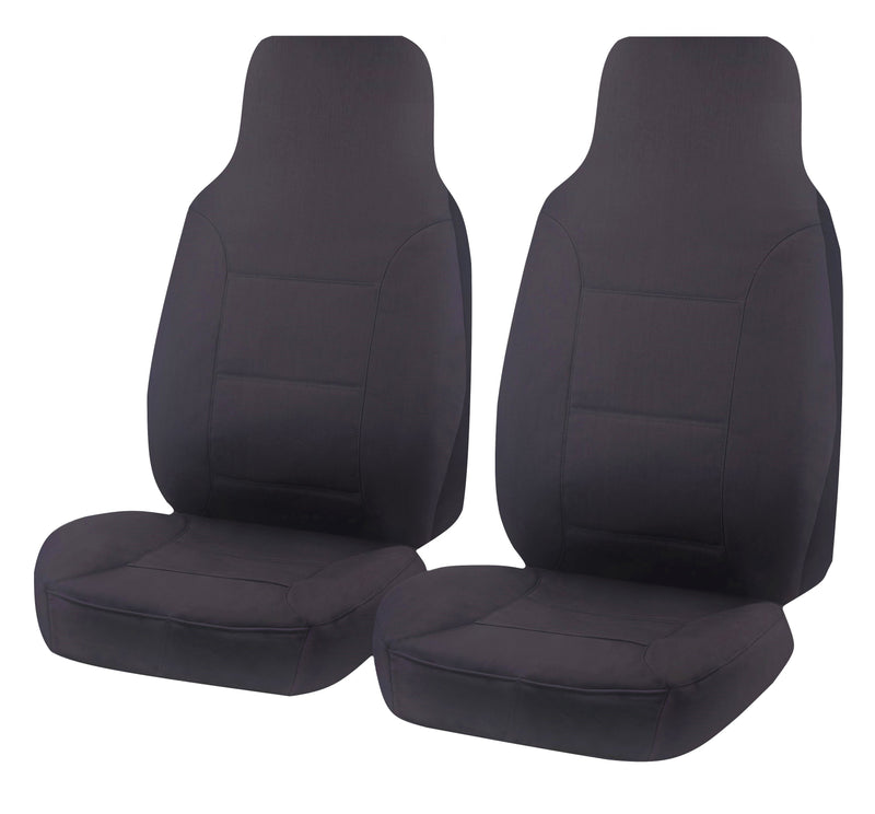 Tailor Made All Terrain Seat Covers for TOYOTA HILUX  07/2015-ON SINGLE CAB CHASSIS CHARCOAL