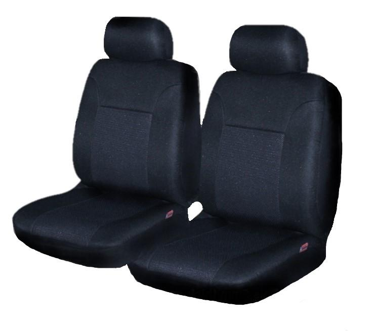 Universal Aspire Front Seat Covers Size 30/35 - Black