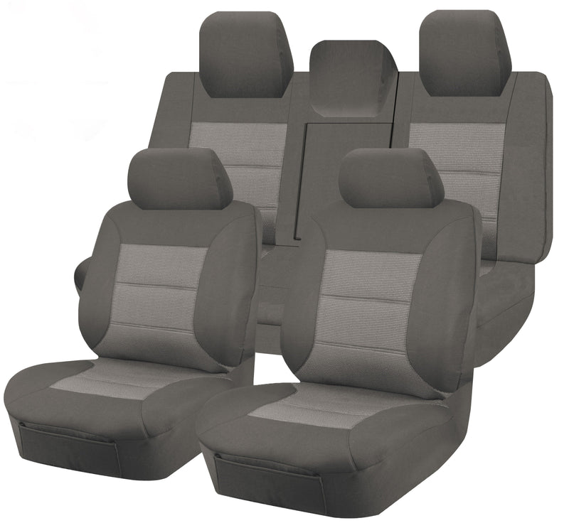 Tailor Made Premium Seat Covers for TOYOTA AURION GSV50R SERIES 12/2011-12/2017 4 DOOR SEDAN GREY