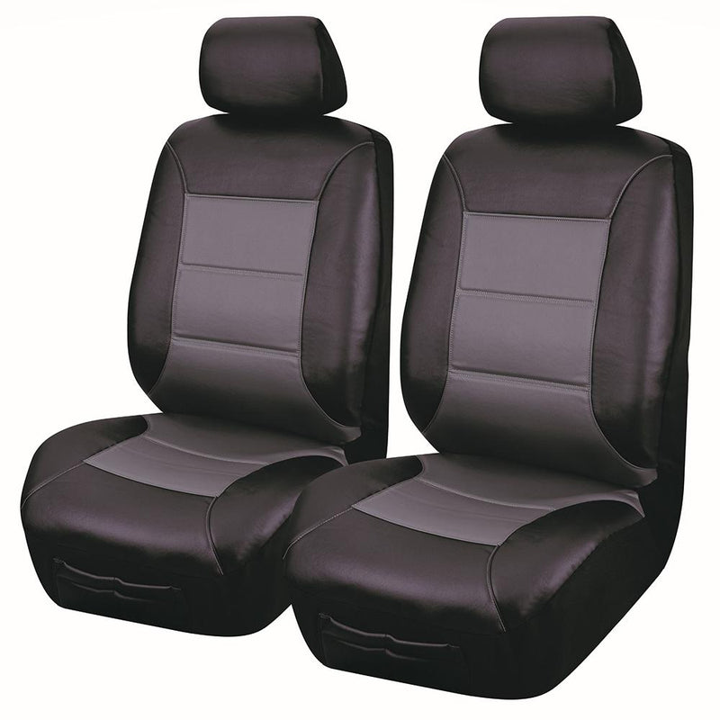 Universal El Toro Series II Front Seat Covers Size 30/35 - Black/Grey