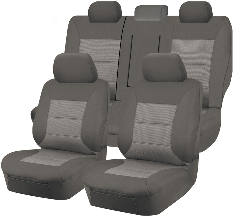 Tailor Made Premium Seat Covers for MITSUBISHI LANCER CJ MY08-MY15 SERIES 09/2007-2015 5 DOOR HATCH/SPORTBACK GREY