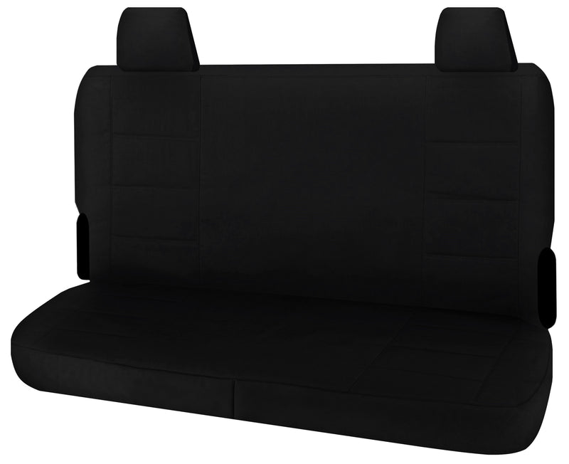 Tailor Made Challenger II Seat Covers for TOYOTA LANDCRUISER VDJ 70 SERIES 05/2007-ON TROOPCARRIER 4X4 WAGON-DUAL CAB CHASSIS BLACK