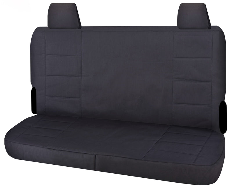 Tailor Made Challenger II Seat Covers for TOYOTA LANDCRUISER VDJ 70 SERIES 05/2007-ON TROOPCARRIER 4X4 WAGON-DUAL CAB CHASSIS CHARCOAL